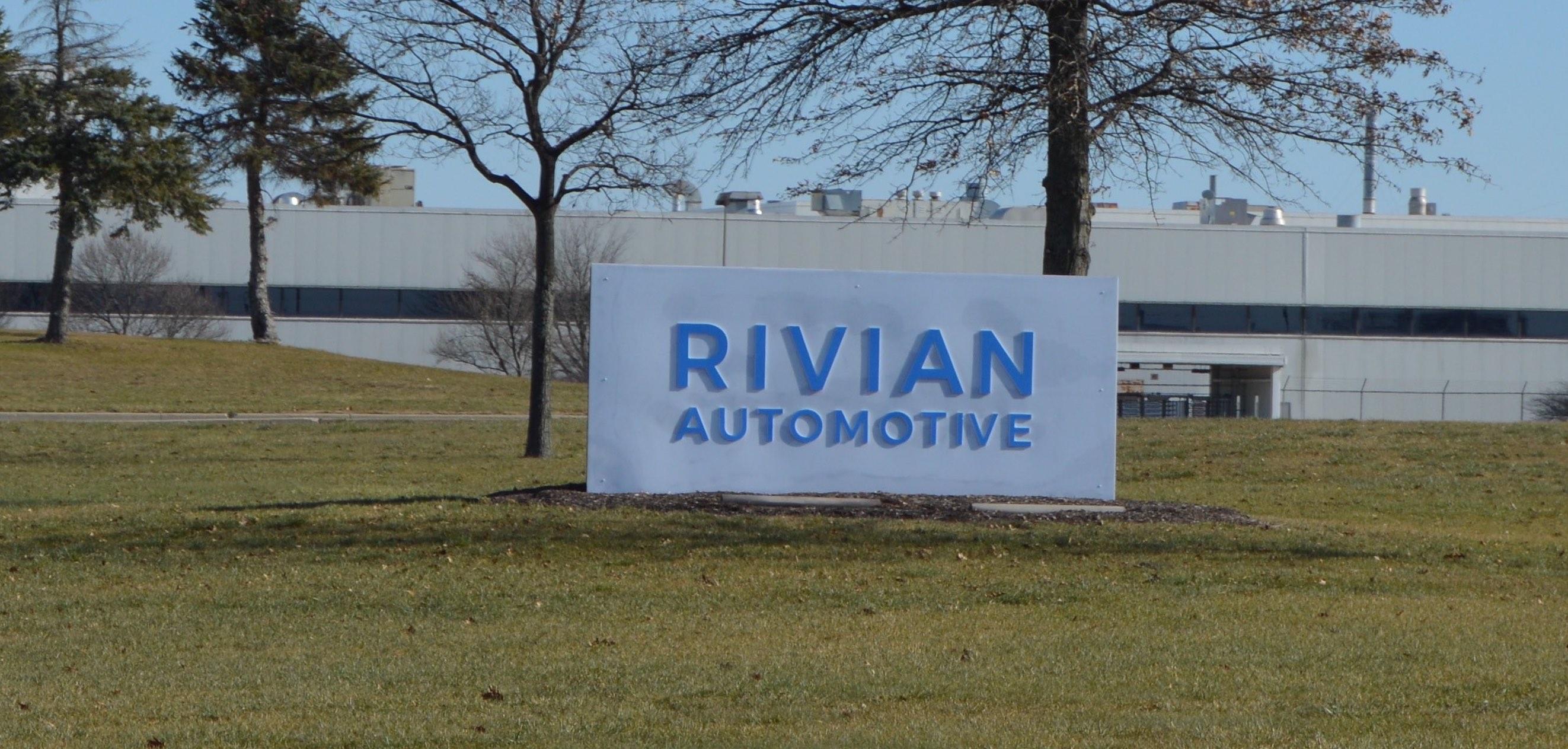 Rivian Automotive Normal IL Factory Sign Tesla
