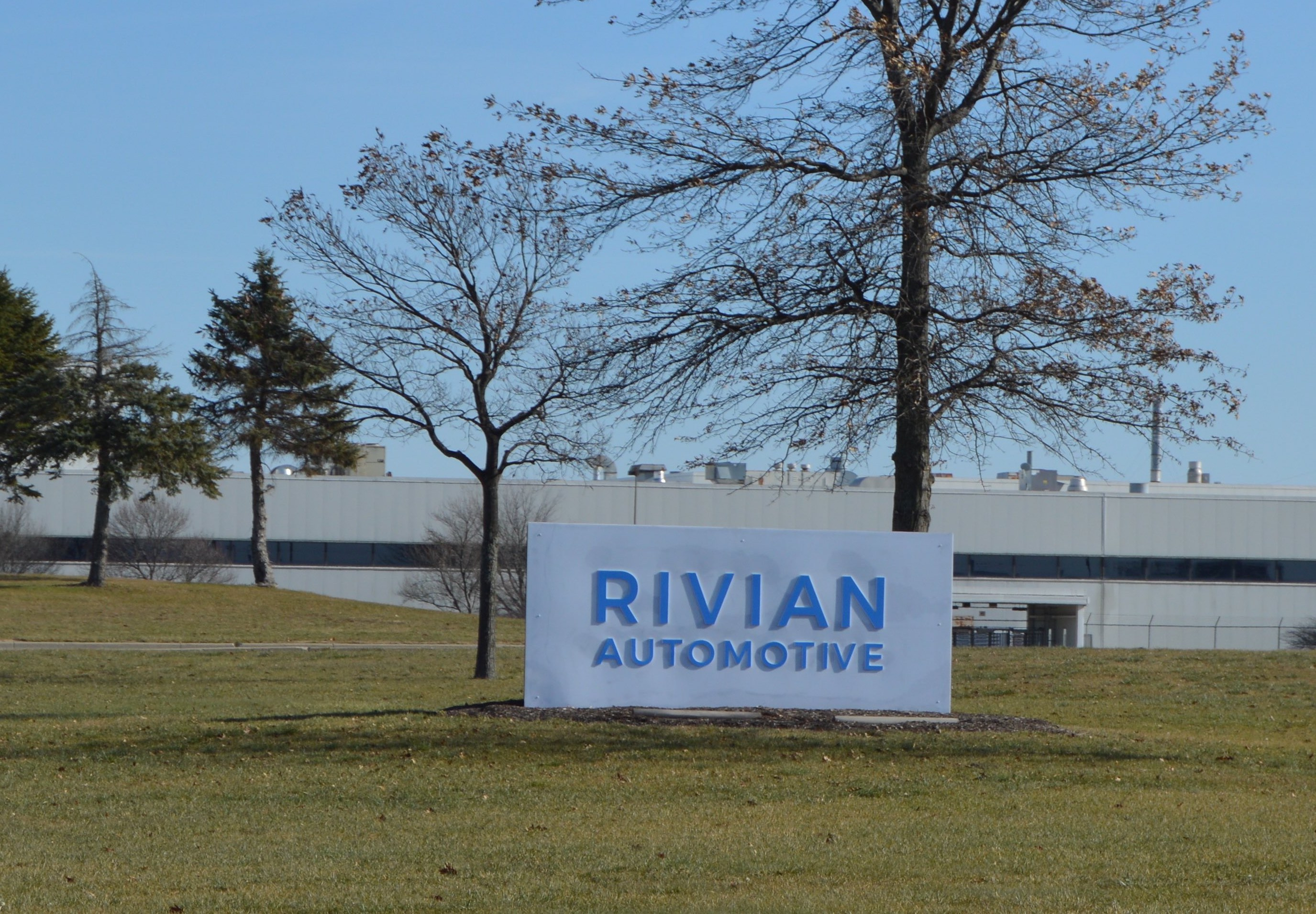 Rivian Automotive Normal IL Factory Sign