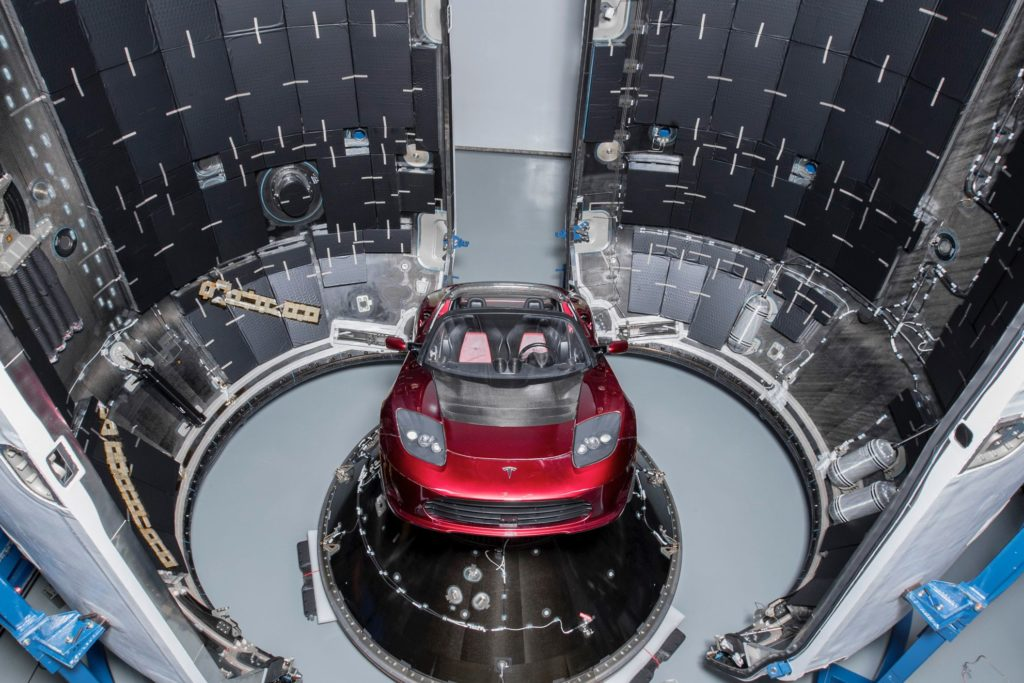 SpaceX Falcon Heavy Carrying Tesla Roadster is Go for ...
