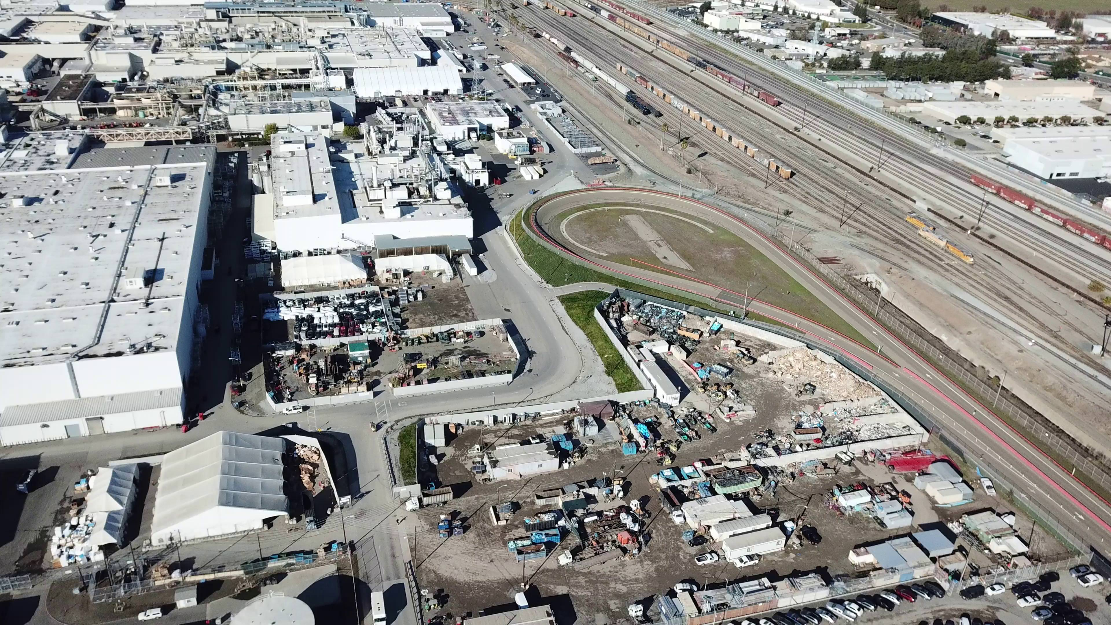 tesla-fremont-factory-test-track-drone-aerial