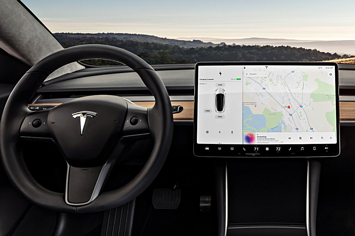 Tesla Model 3 center touchscreen