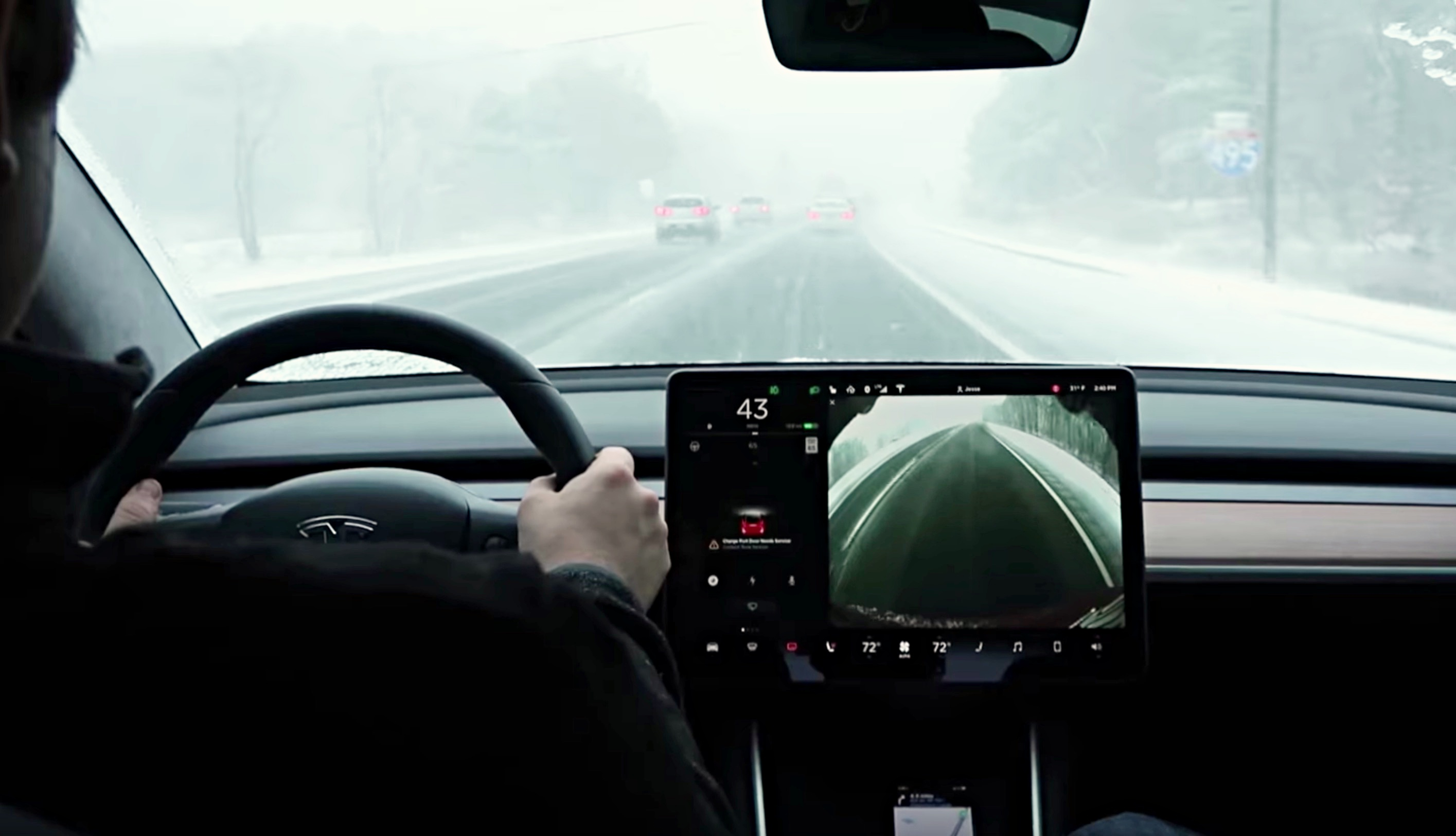 Best Look Yet At Tesla Model 3 Handling Snowy Conditions On Standard Tires
