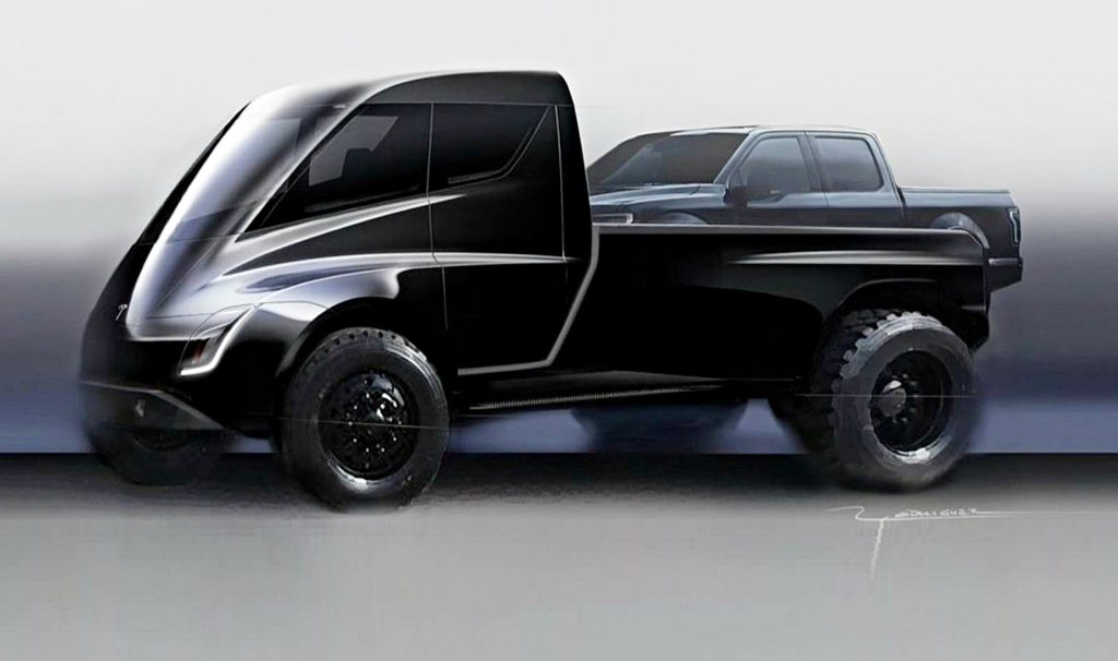 Elon Musk's 'Cyberpunk' Tesla Pickup Truck comes to life in most plausible render yet