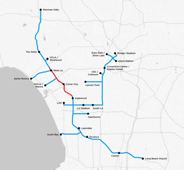 The Boring Company has published its tunnel map of Los Angeles