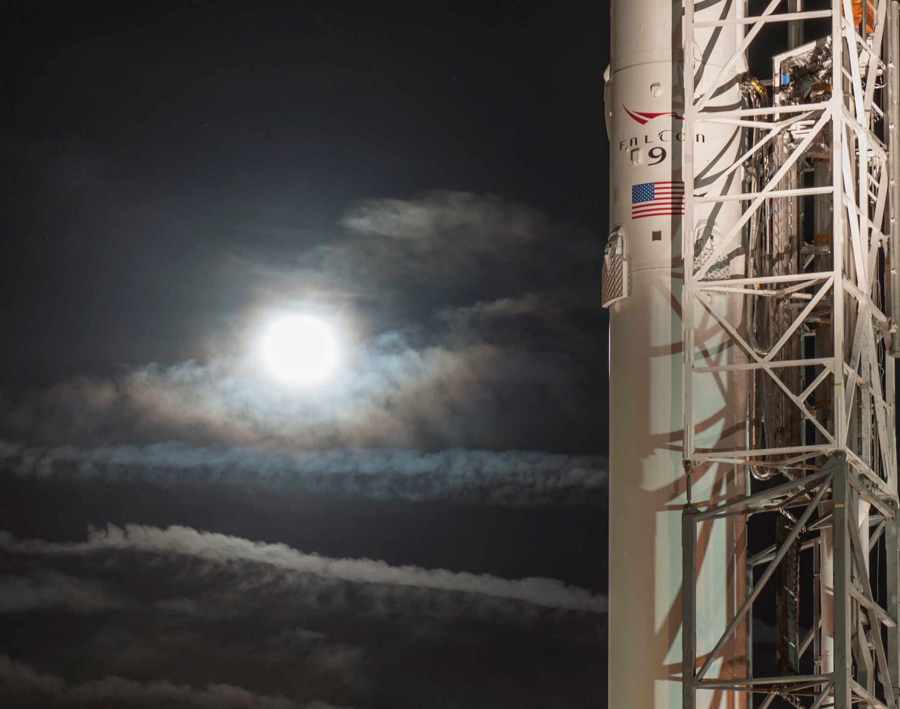 CRS-5 moon (SpaceX)