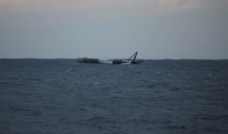 GovSat Falcon 9 soft landing (SpaceX)
