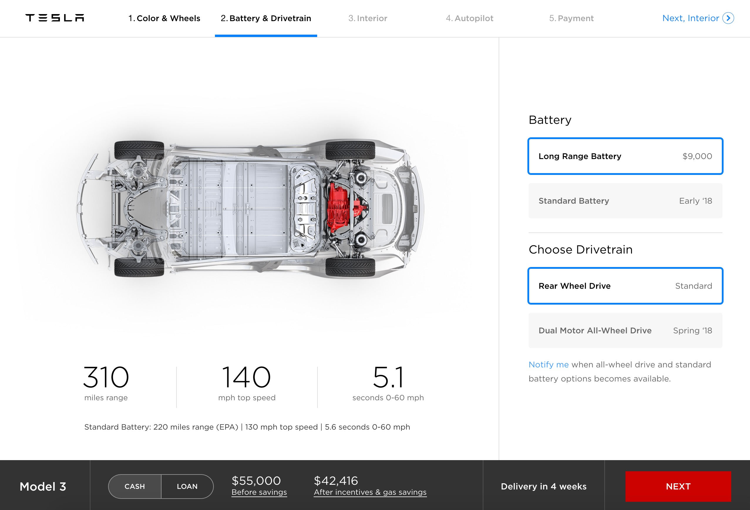 Tesla updates Model 3 online configurator with reference ...