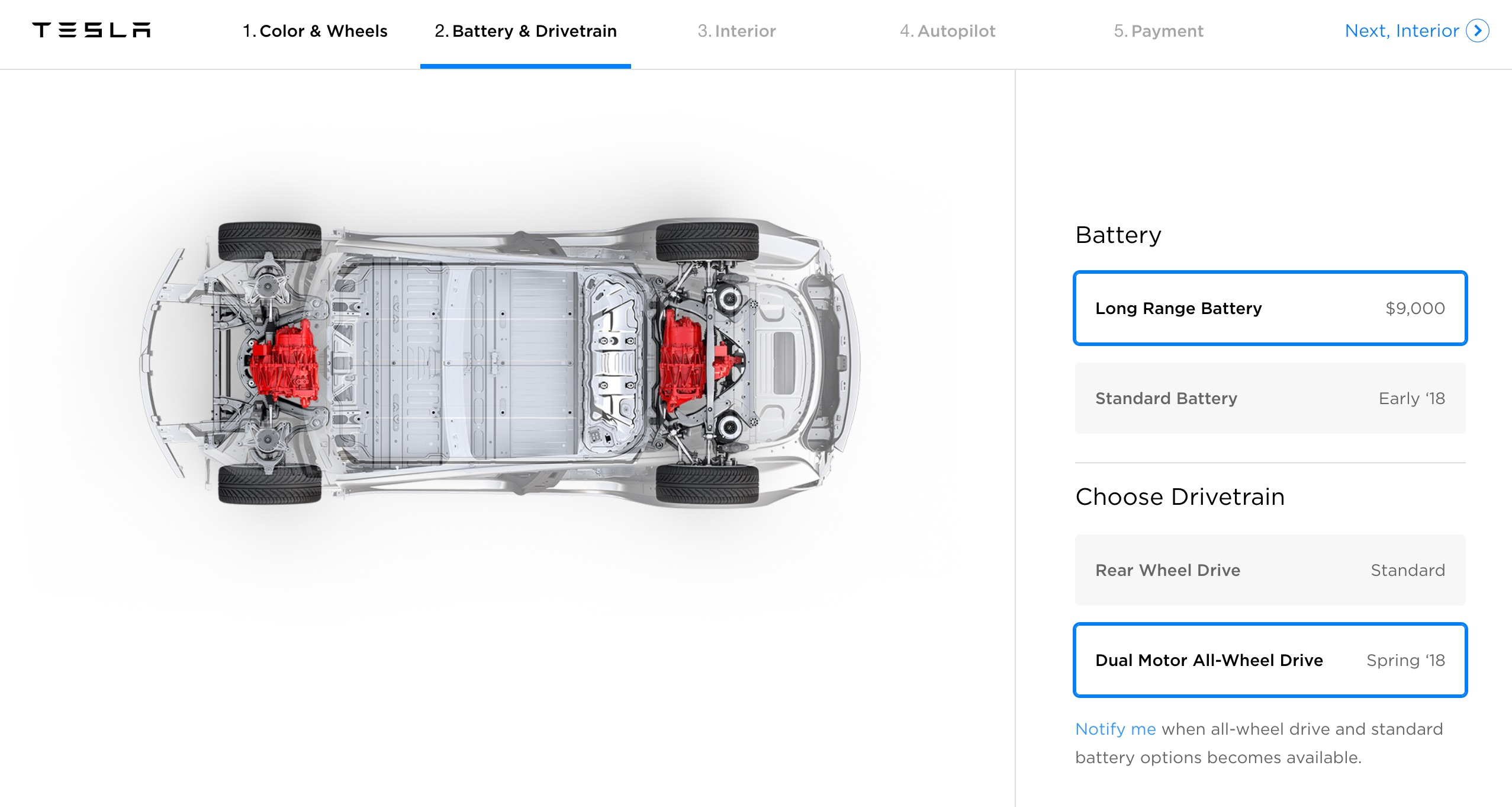 tesla updates model 3 online configurator with reference