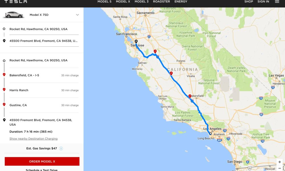 Tesla Charging Stations Map >> Tesla Launches Ev Trip Planner Tool With Map Of Supercharger Locations