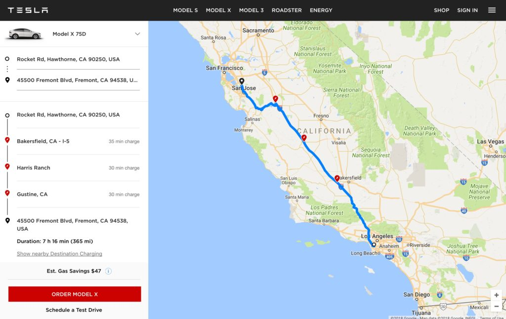 tesla launches  u0026quot ev trip planner u0026quot  tool with map of