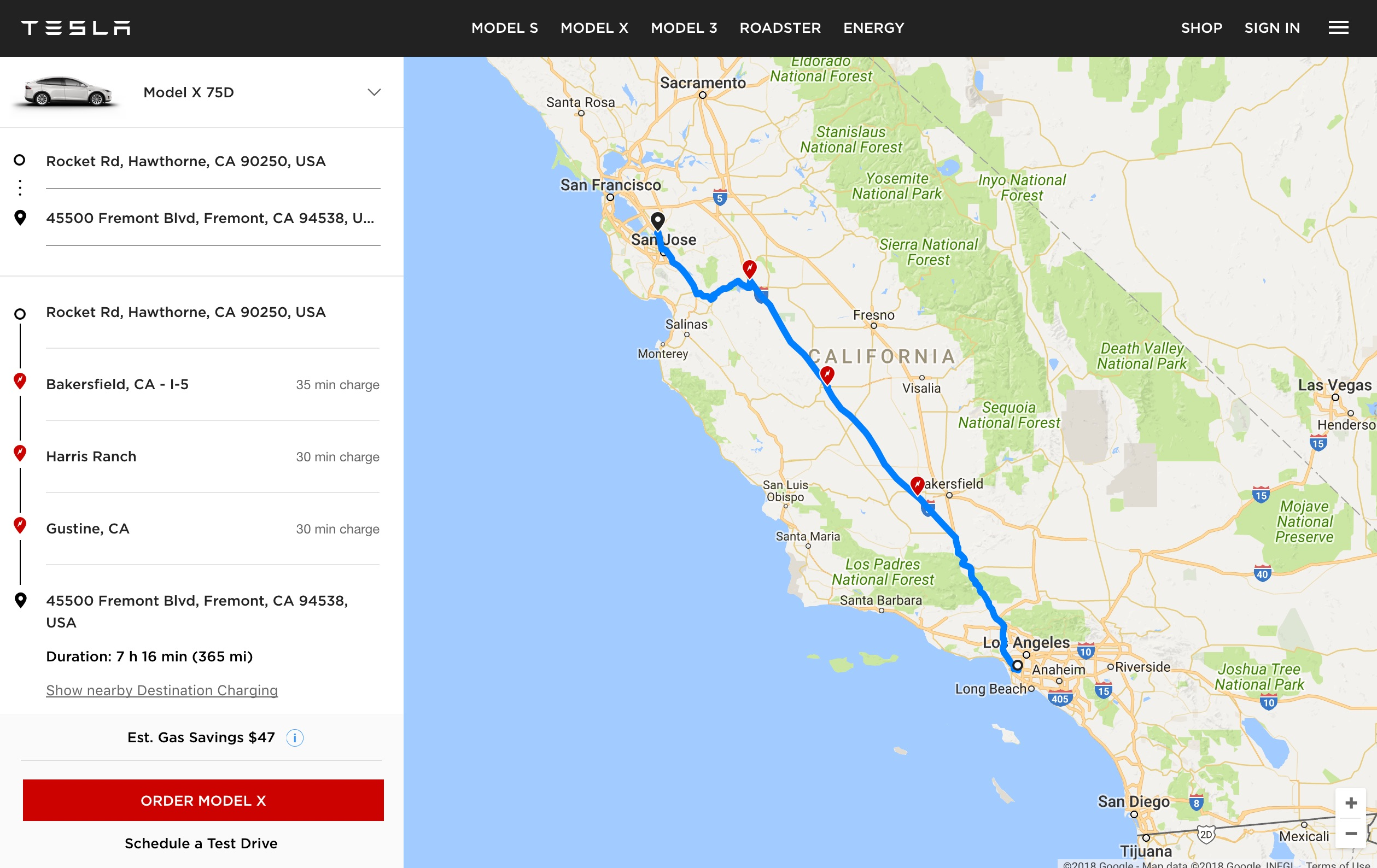 Tesla Launches Ev Trip Planner Tool With Map Of Supercharger Locations