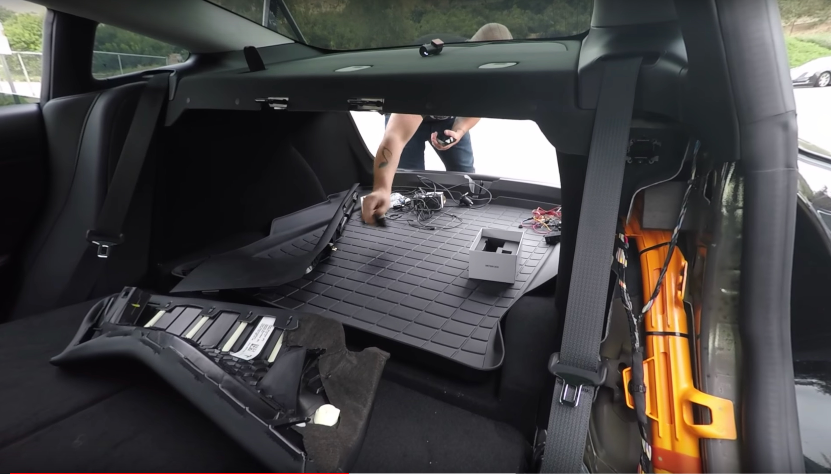 In Order To Avoid Interfering With The Model 3 S Multiple Airbags Calibred Customs Opted Remove Panels Of A Process That Was