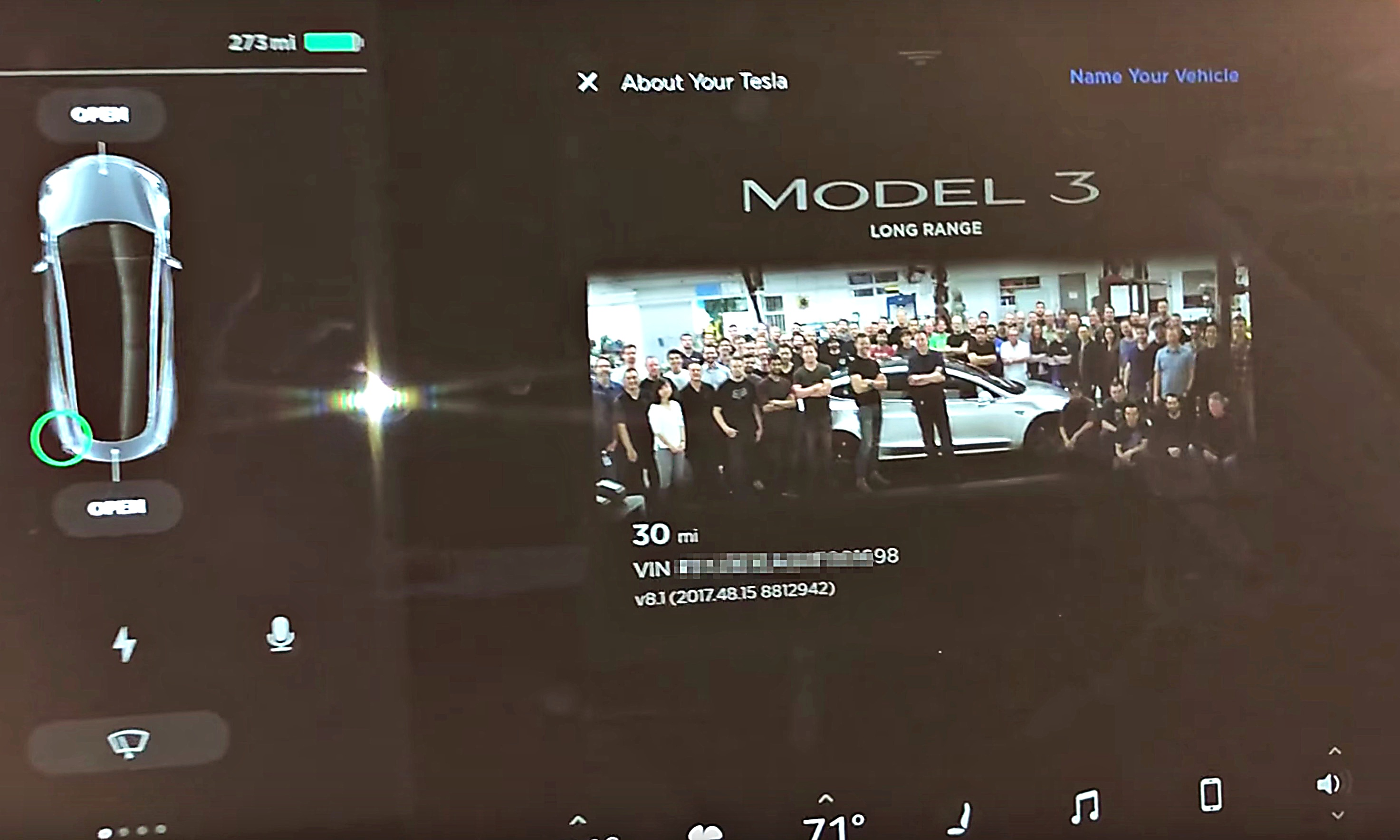 Tesla Model 3 Has An Easter Egg Too And Its A Team Photo