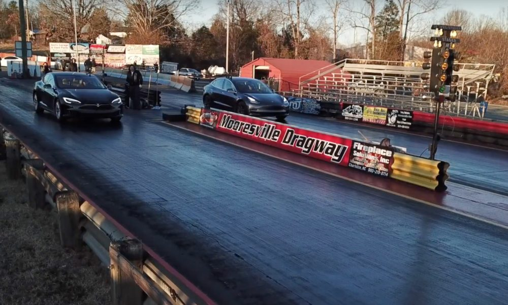 Watch This Tesla Model 3 Drag Race A Model S 75d And P100d