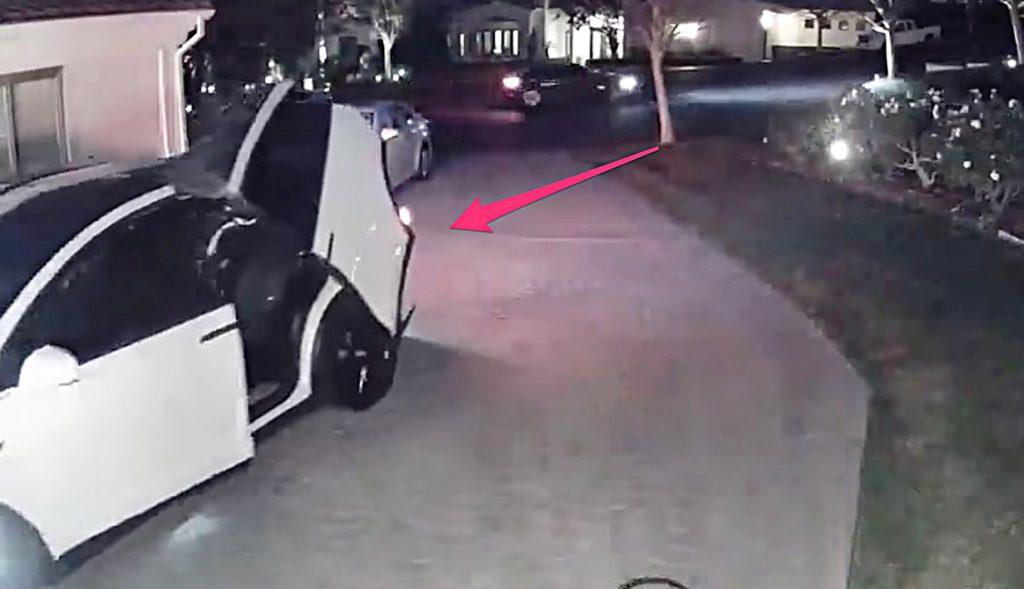 Tesla Model X owner crashes open Falcon Wing Door into garage