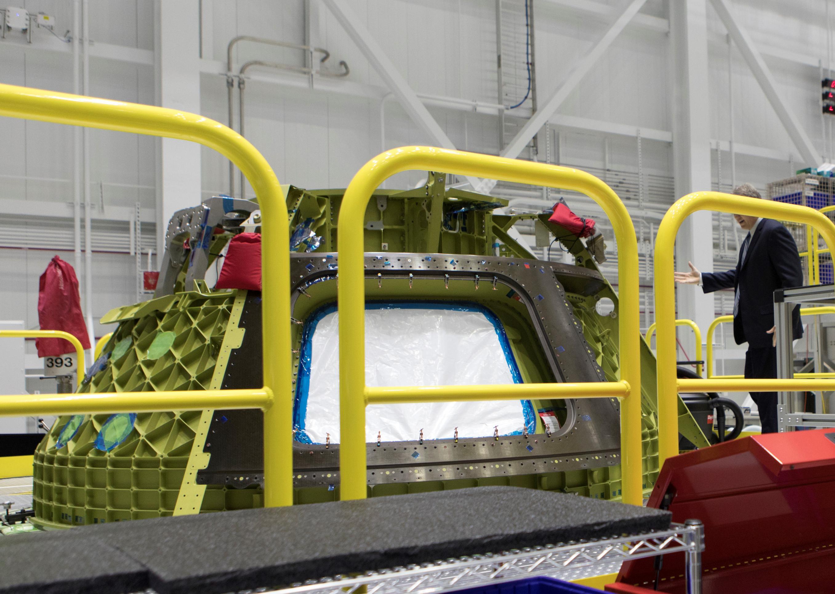 Boeing Starliner display (NASA)