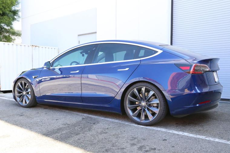 Tesla Model 3 Gets A Bold Look With 20 Quot Turbine Wheels In