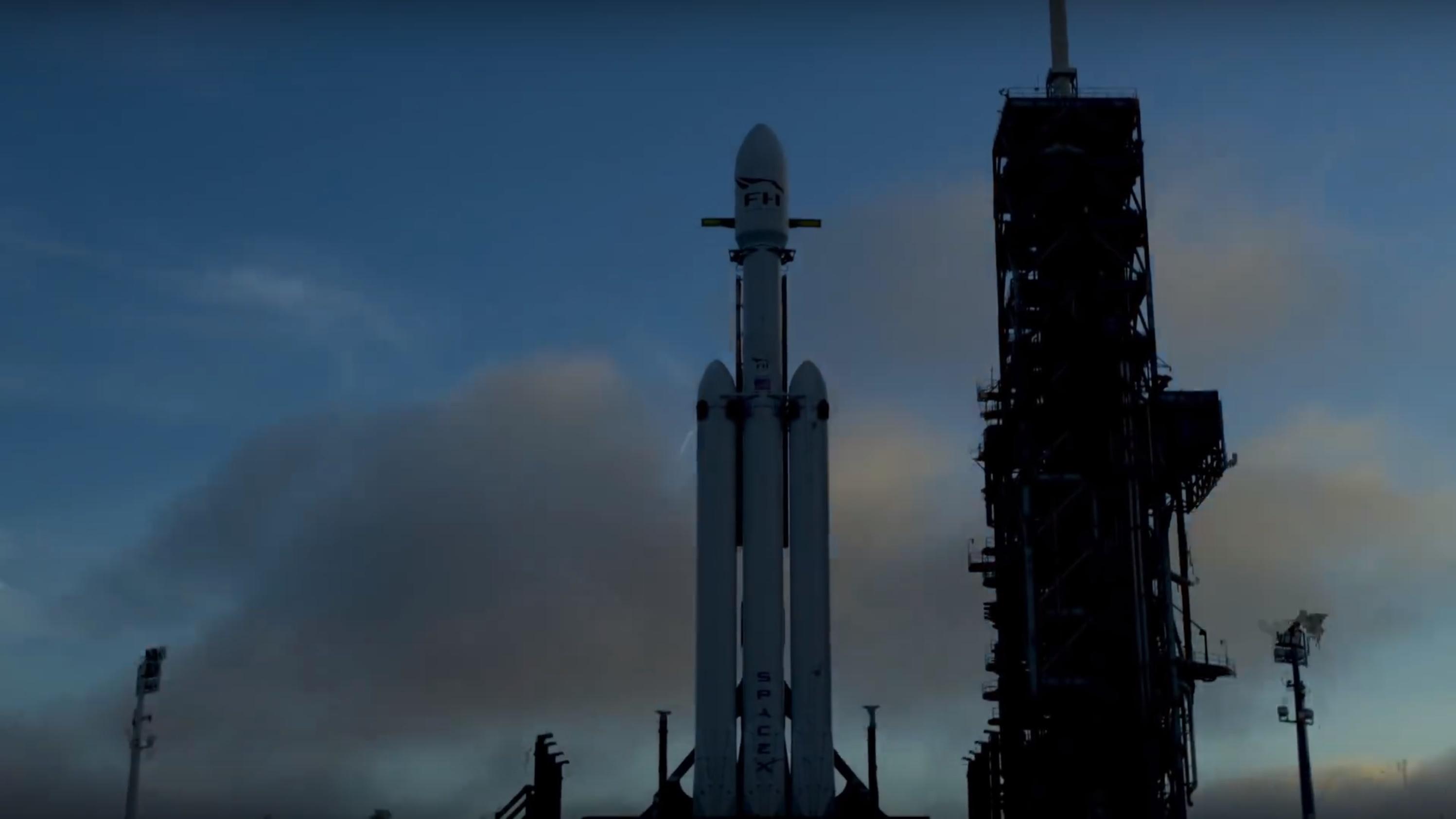 FH at dawn (SpaceX)