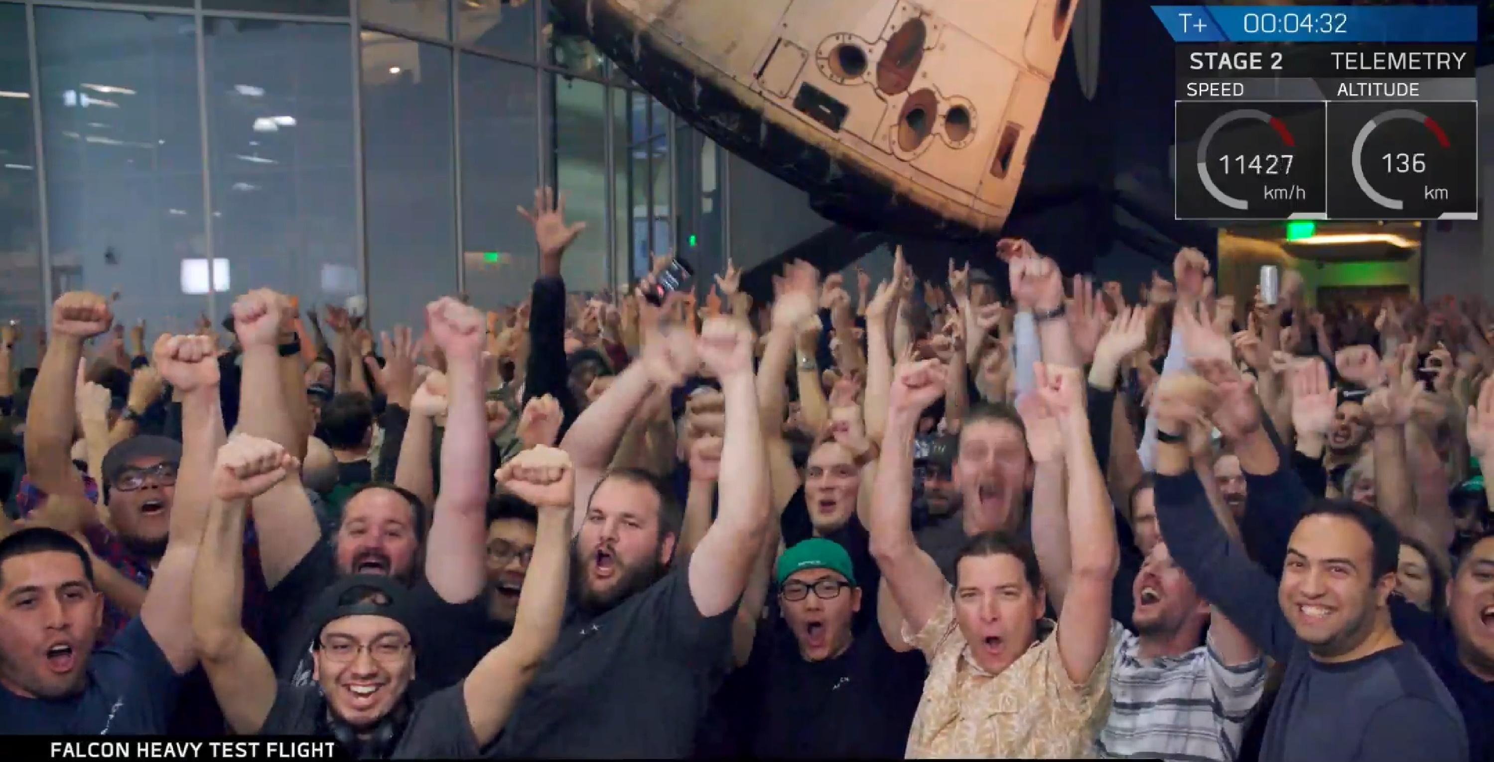FH celebration (SpaceX)