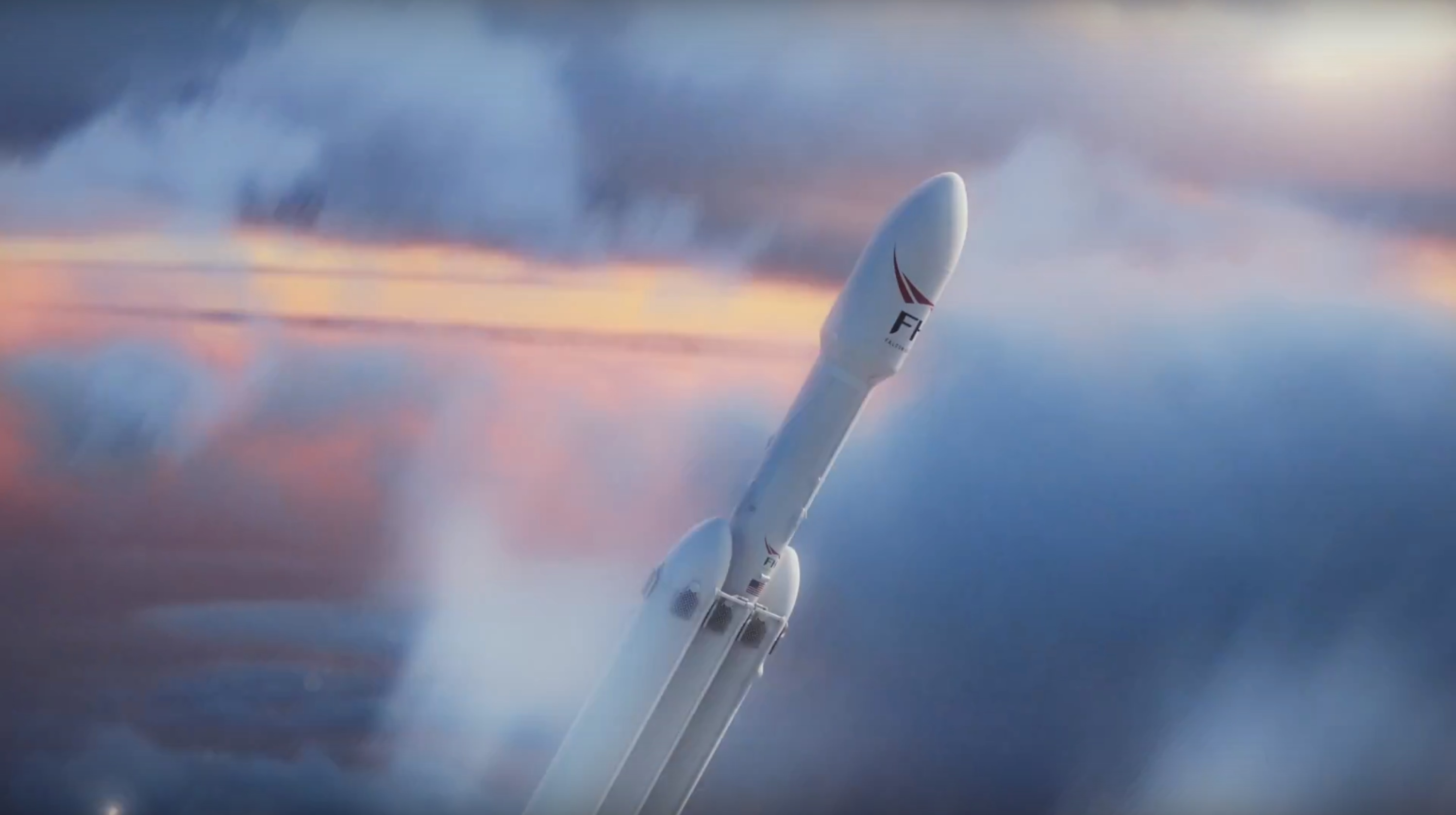 FH launch render (SpaceX)