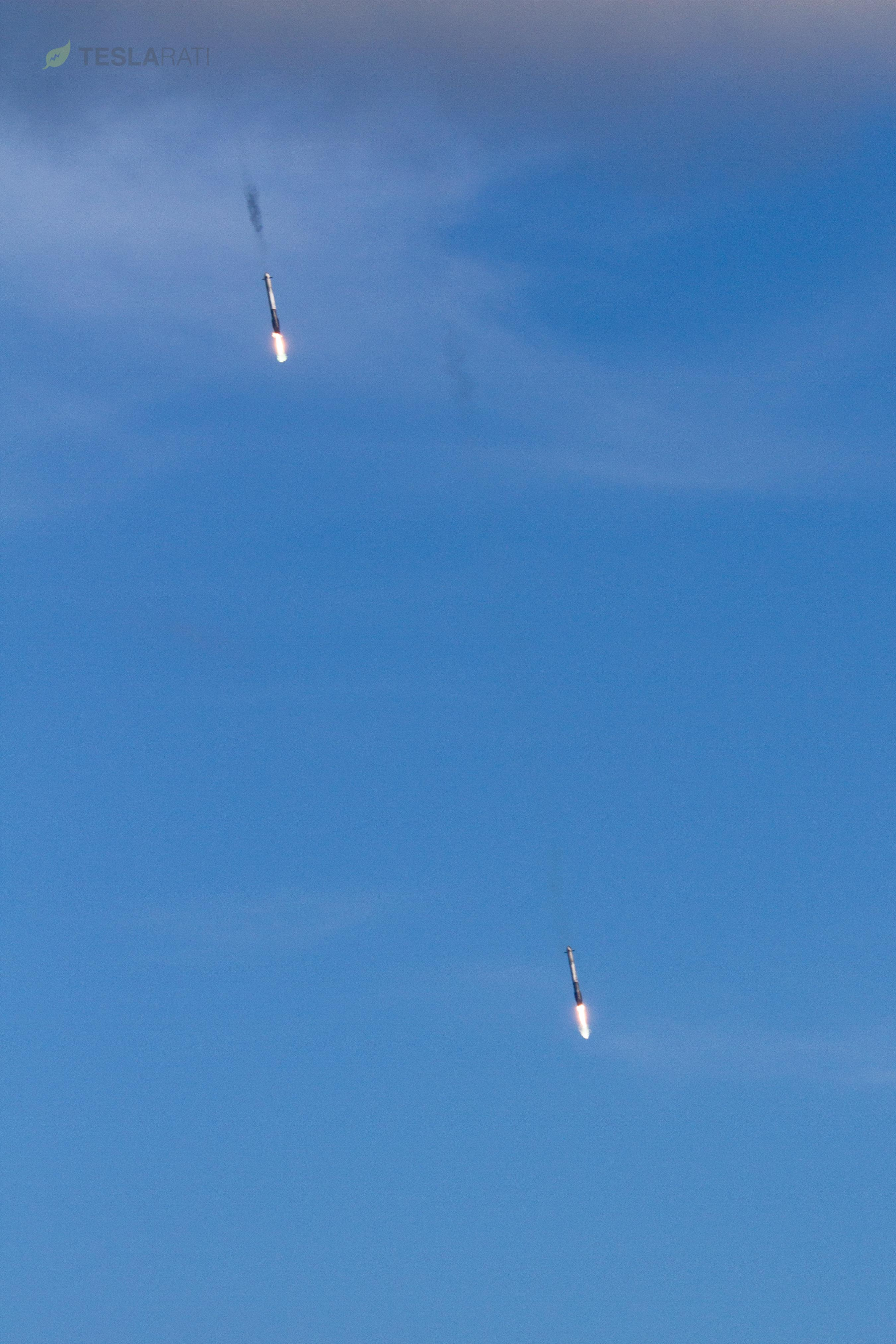 FH side booster reentry 1 (SpaceX)