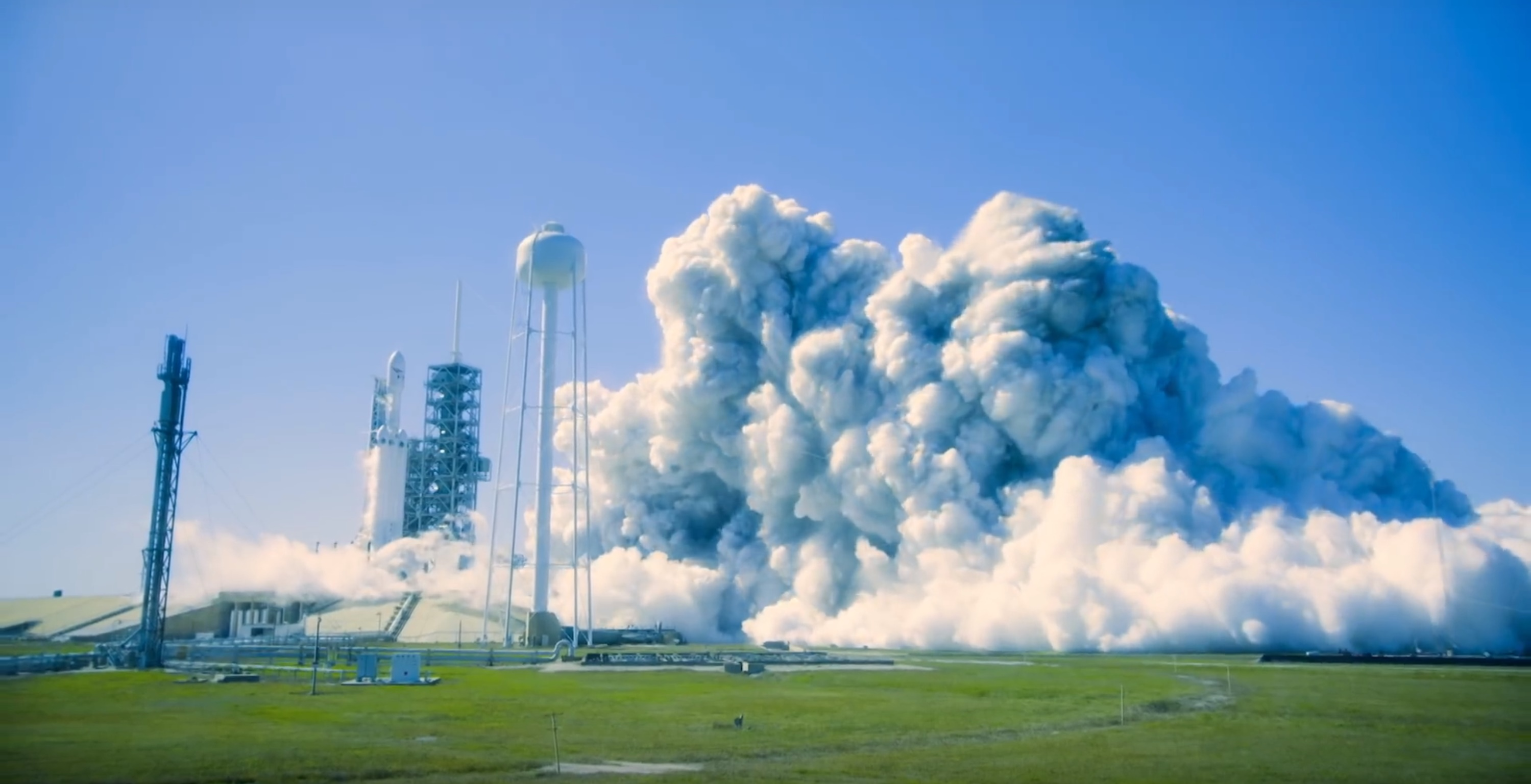 FH static fire 2 (SpaceX)