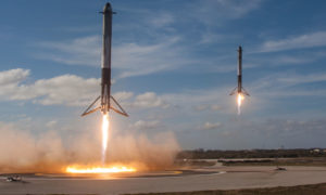 Including Falcon Heavy's two side boosters, SpaceX has successfully completed an array of land-based recoveries in the last four months, but not a single landing on a drone ship. (SpaceX)