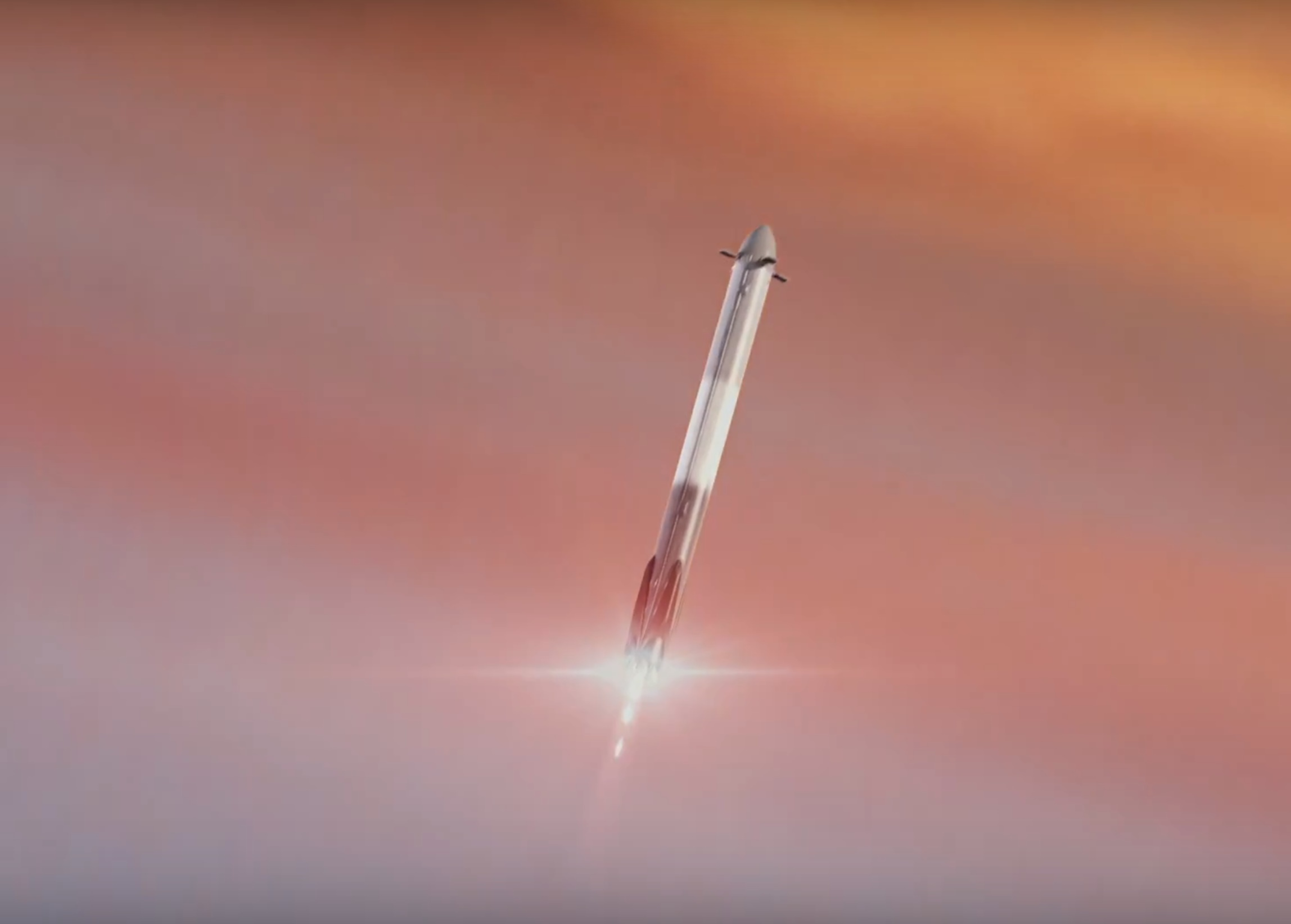 Falcon Heavy side booster recovery (SpaceX)