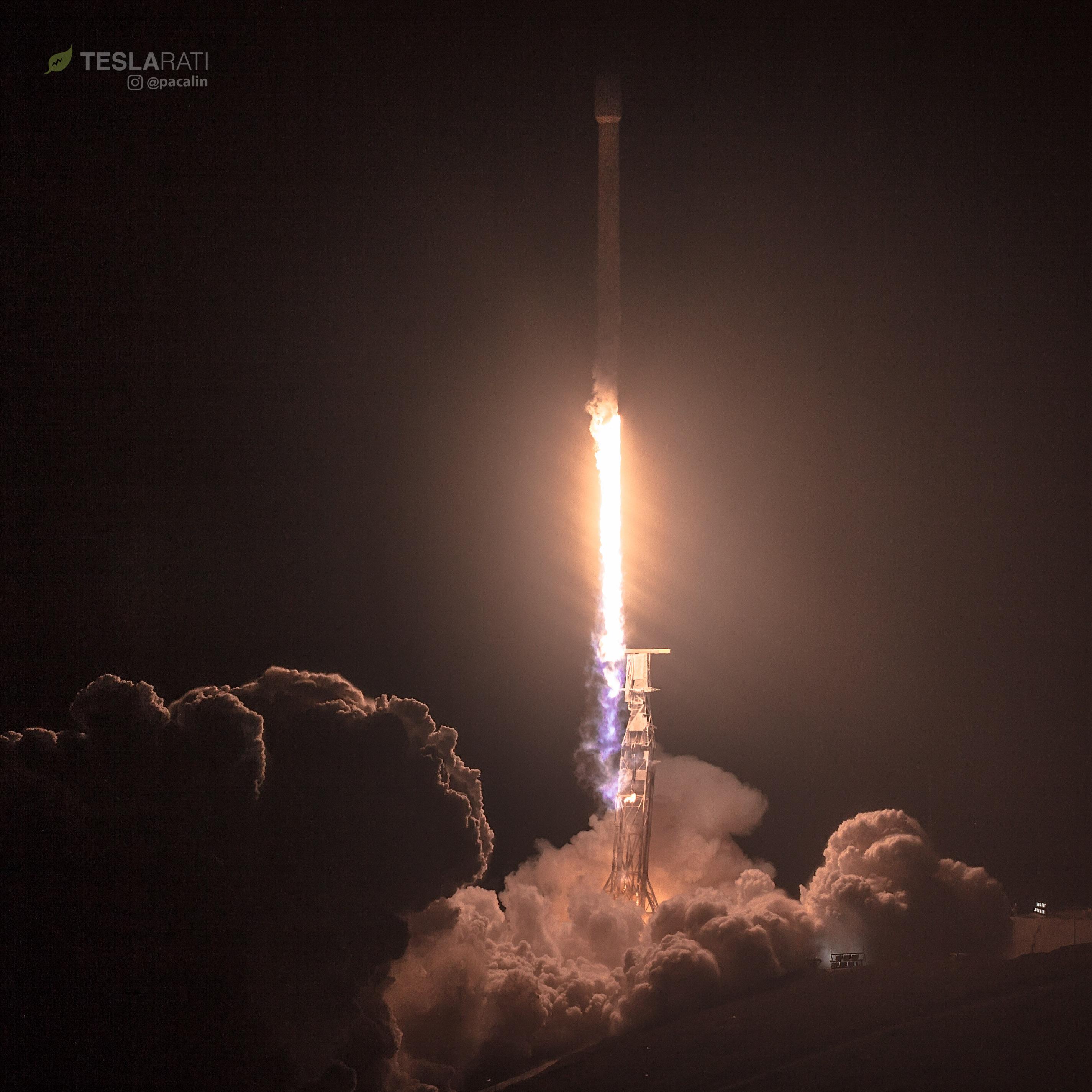PAZ and Starlink liftoff (Pauline Acalin)