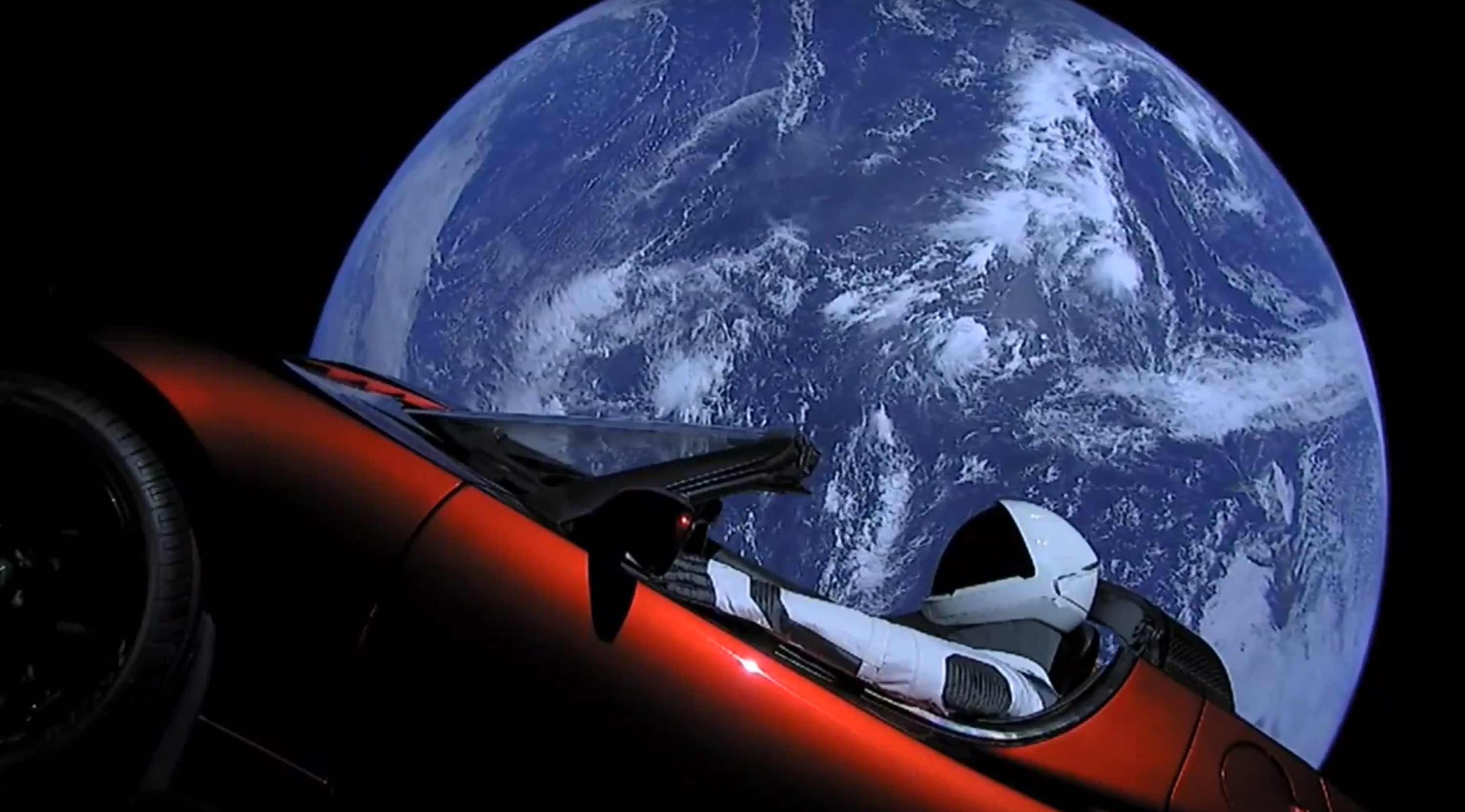 Roadster in orbit (SpaceX)