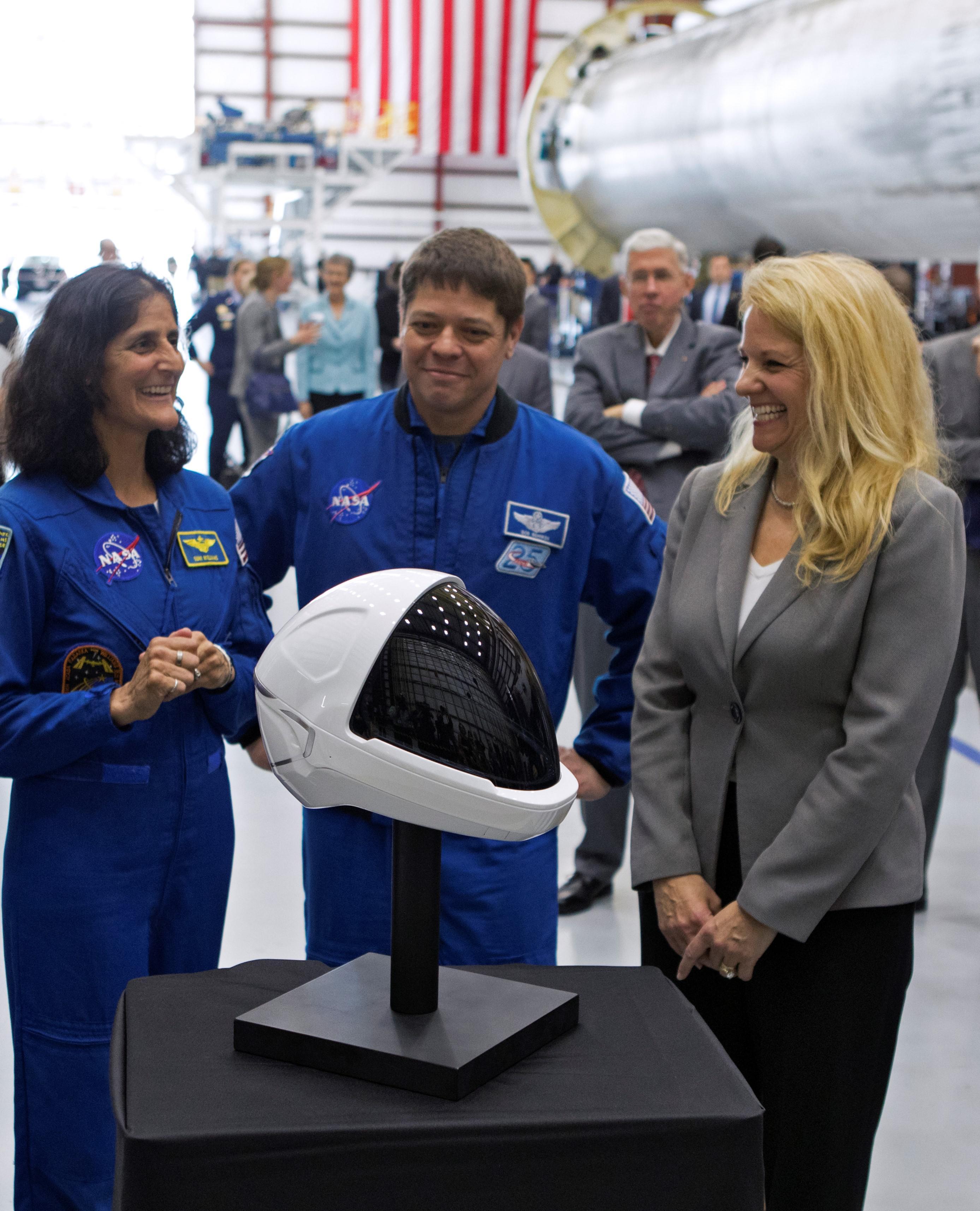 SpaceX spacesuit helmet detail (NASA)