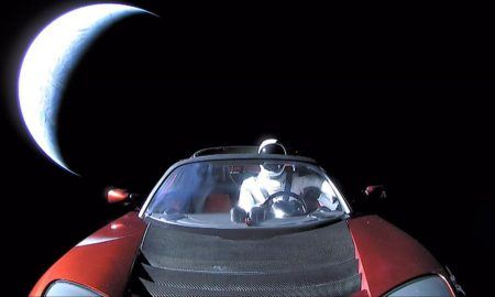 SpaceX's Falcon Heavy debut likely relied in part upon Tesla battery tech for second stage's nearly six hour-long coast before sending Starman beyond Earth orbit. (SpaceX)