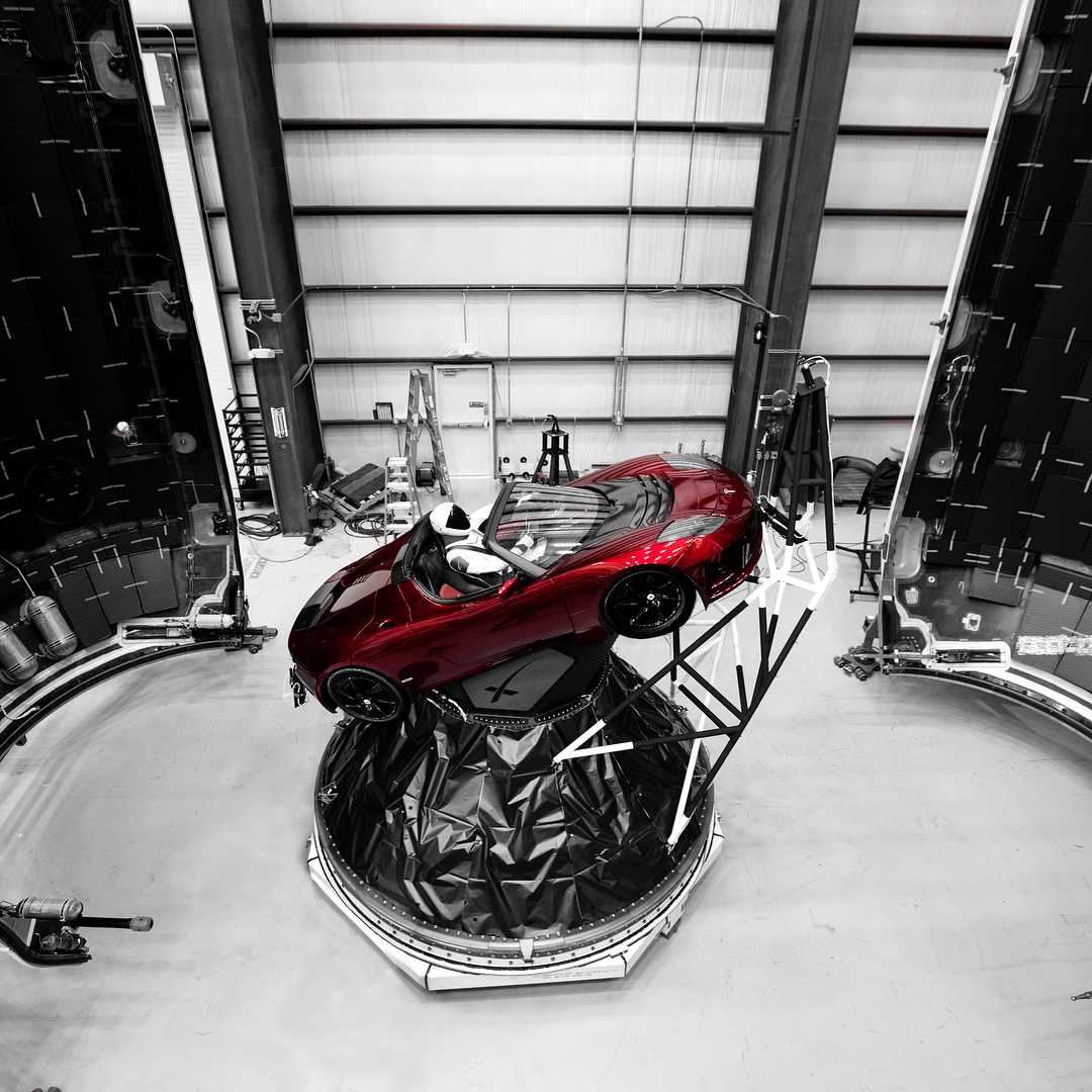 Tesla Roadster and astronaut 1 (Elon Musk)
