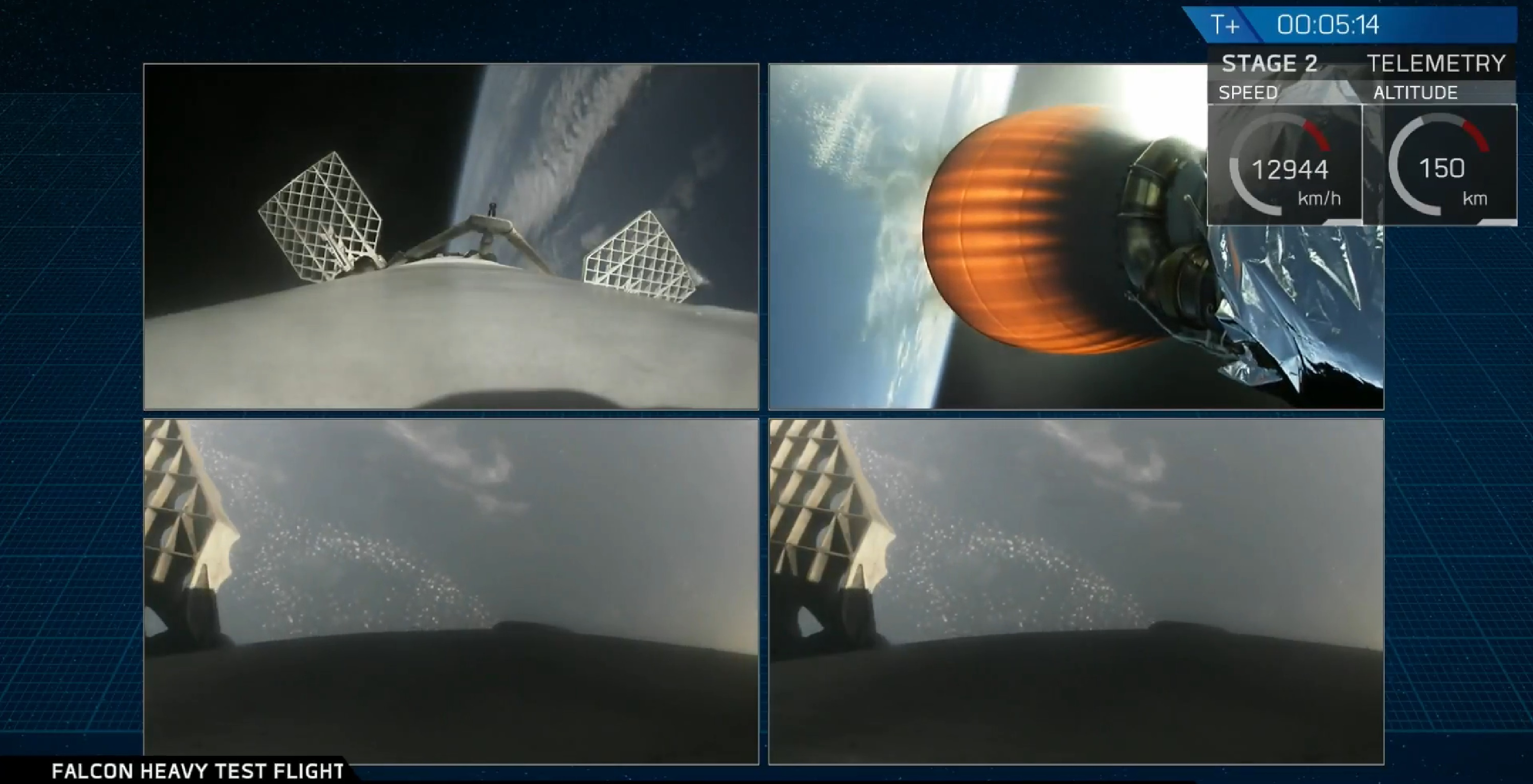 all four spacecraft (SpaceX)