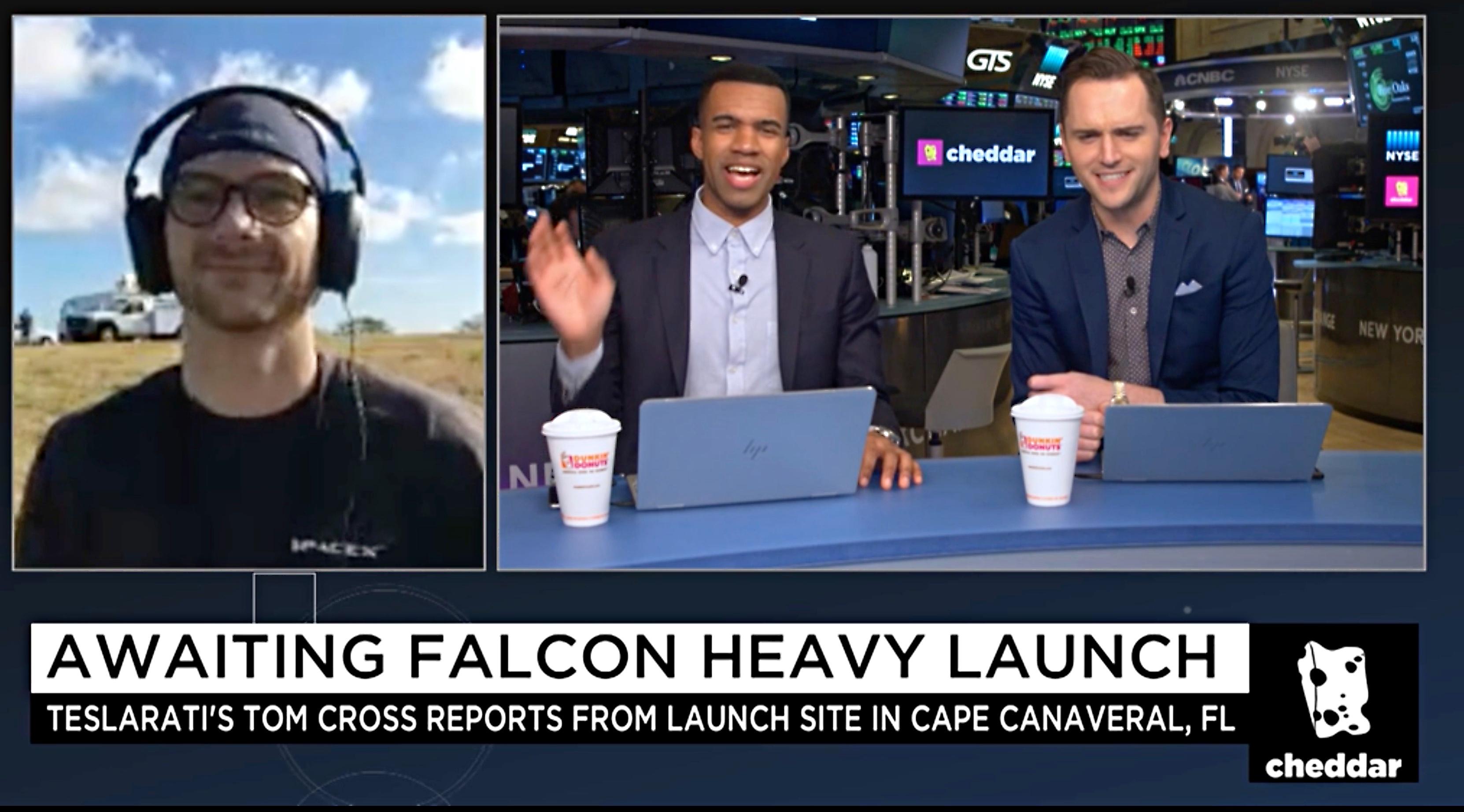 cheddar-tom-cross-spacex-falcon-heavy-launch