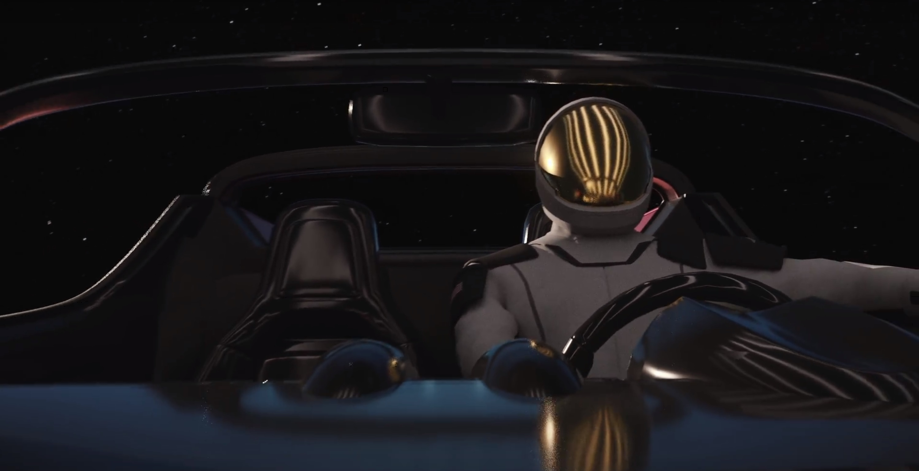 driving in space (SpaceX)