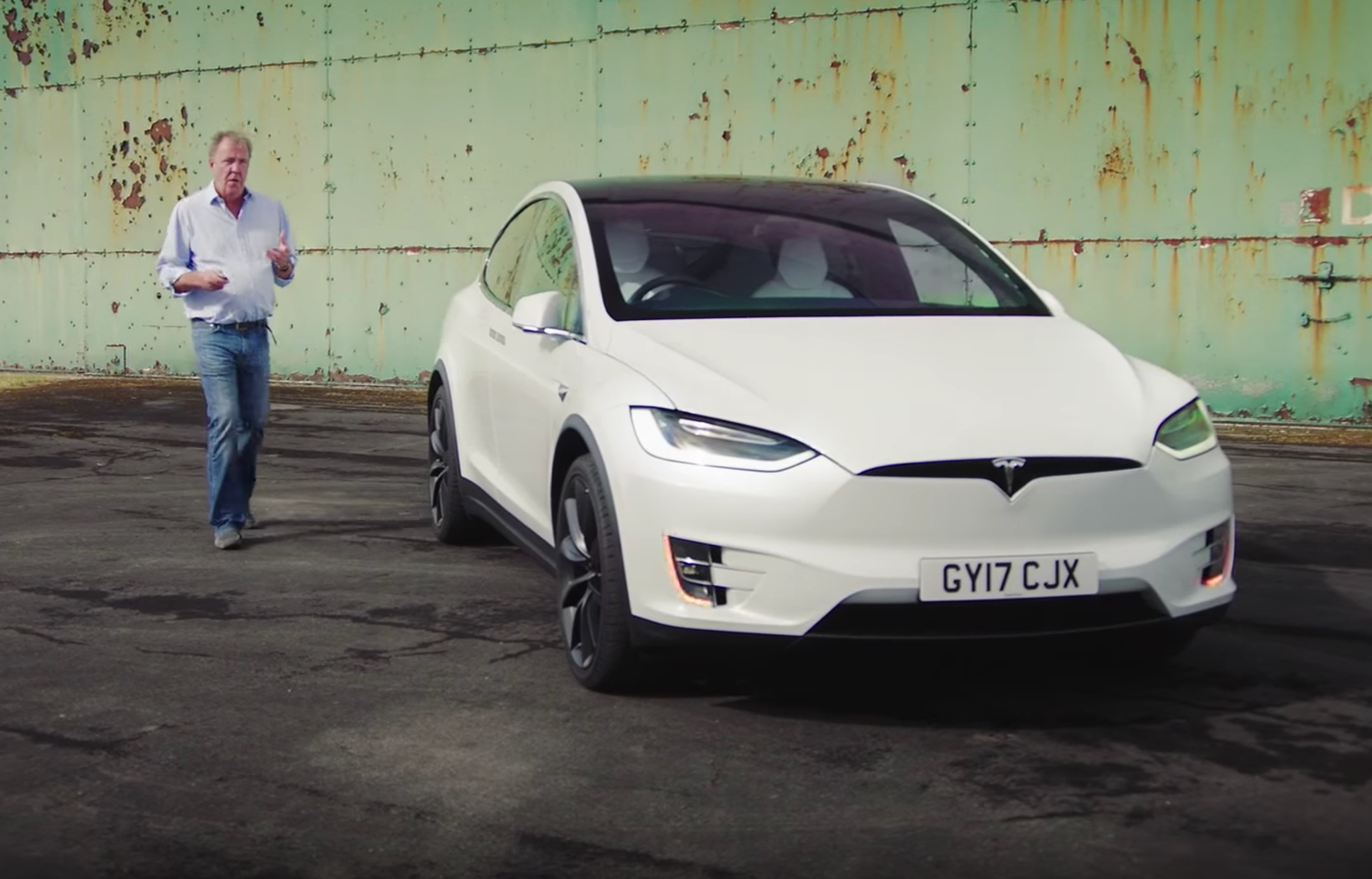 Clarkson Reviews Tesla Model X After 10 Year Hiatus From