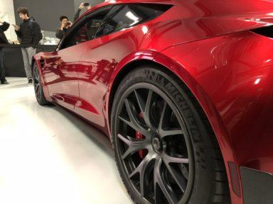 Tesla 39 s roadster prototype makes a rare outing in palo for Tesla motors palo alto