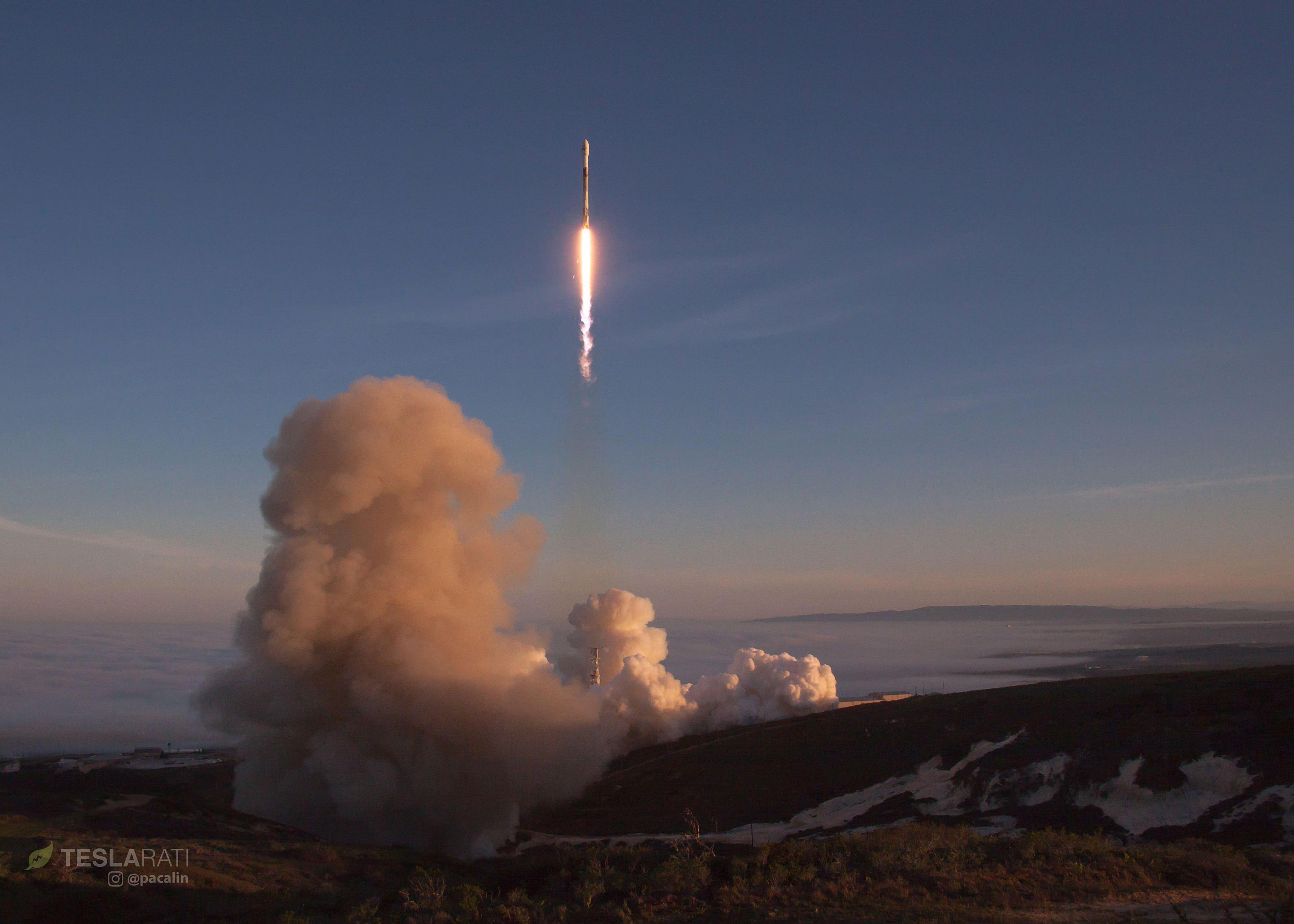 Falcon 9 1041 soars into sunlight 2 (Pauline Acalin)