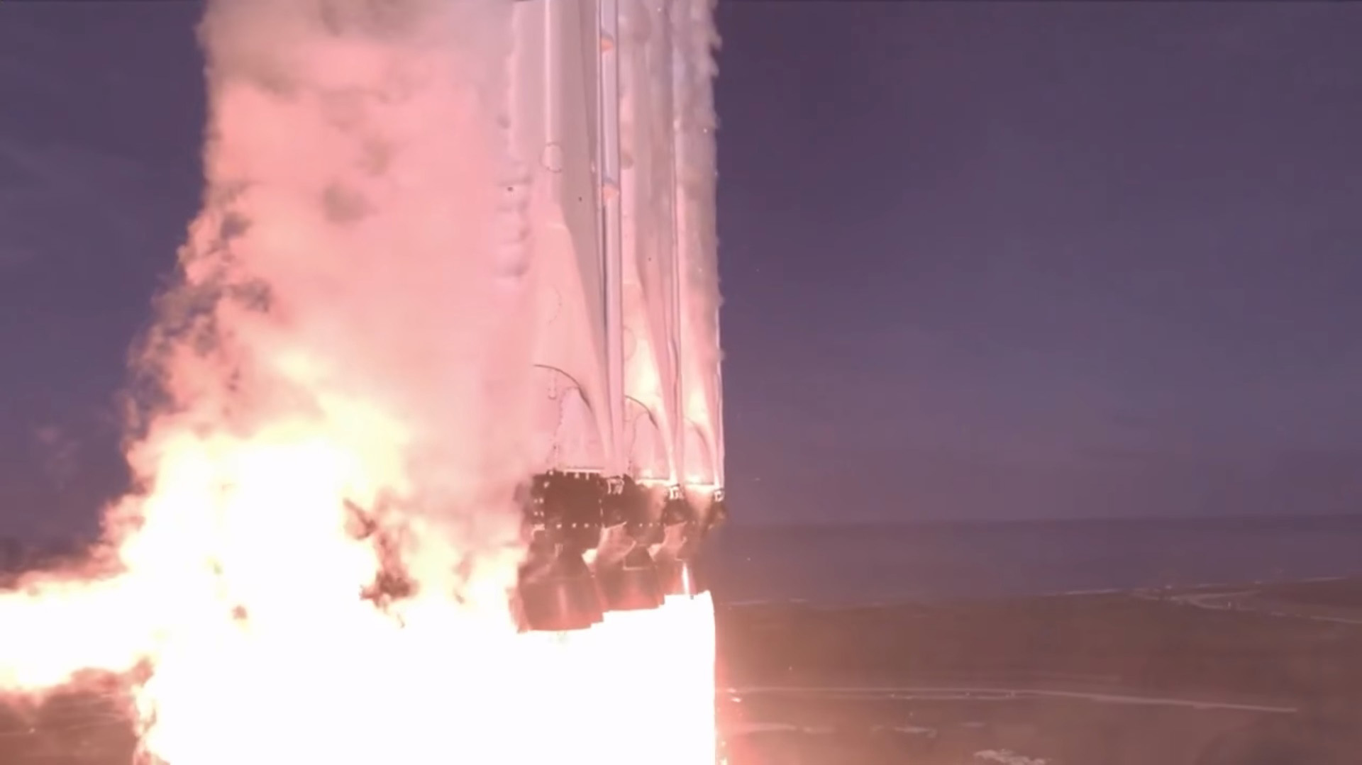 Falcon Heavy liftoff slowmo (SpaceX)