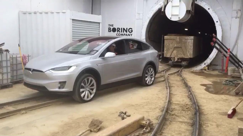 Model X Boring Company tunnel