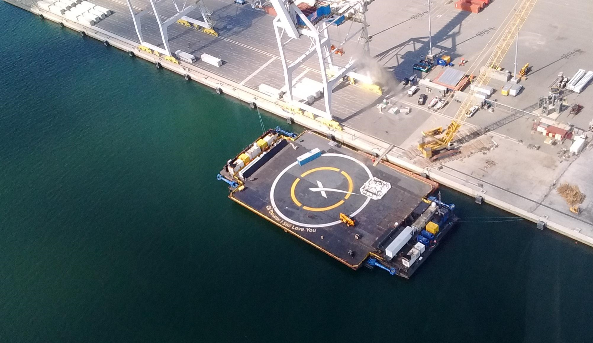 Spacex S Drone Ship Fleet Spied Prepping For Future Rocket