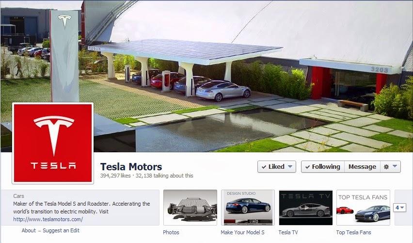 Tesla-Facebook-page