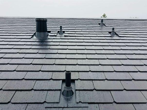 Tesla S Solar Roof Tiles Showcased In New Residential