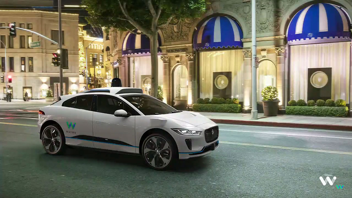 Waymo Jaguar I-Pace self driving car 3 [Credit: Waymo/YouTube]