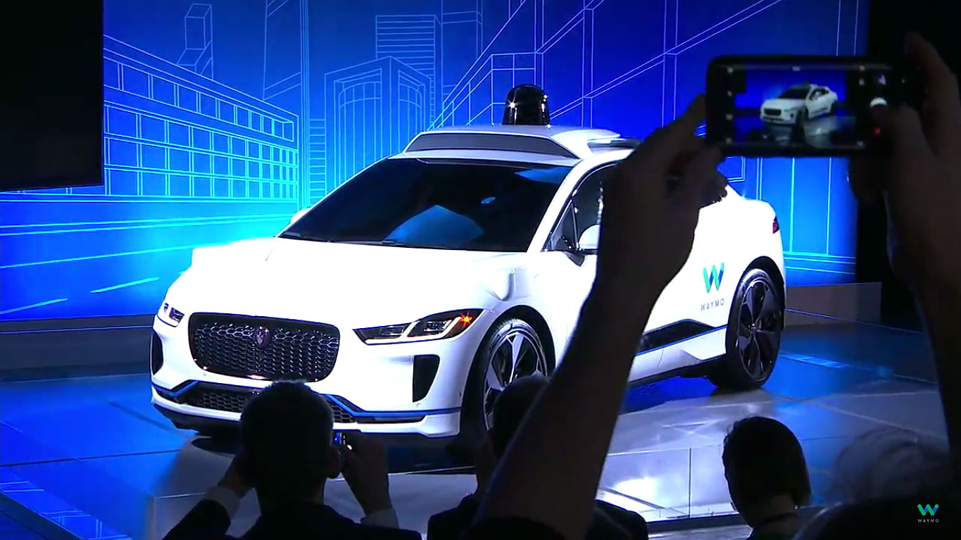 Waymo Jaguar I-Pace self-driving car 6 [Credit: Waymo/YouTube] [Credit: Waymo/YouTube]