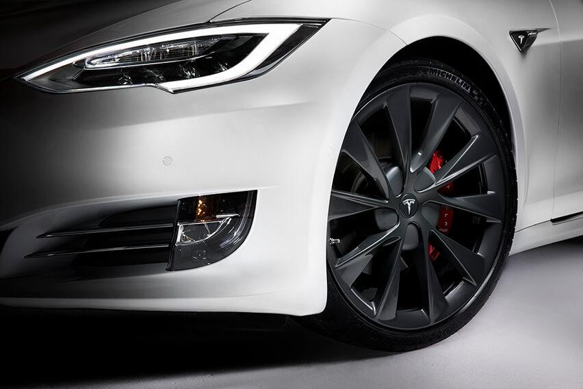 Tesla Twin Turbine 21in Wheel Sonic Carbon Model S Teslarati