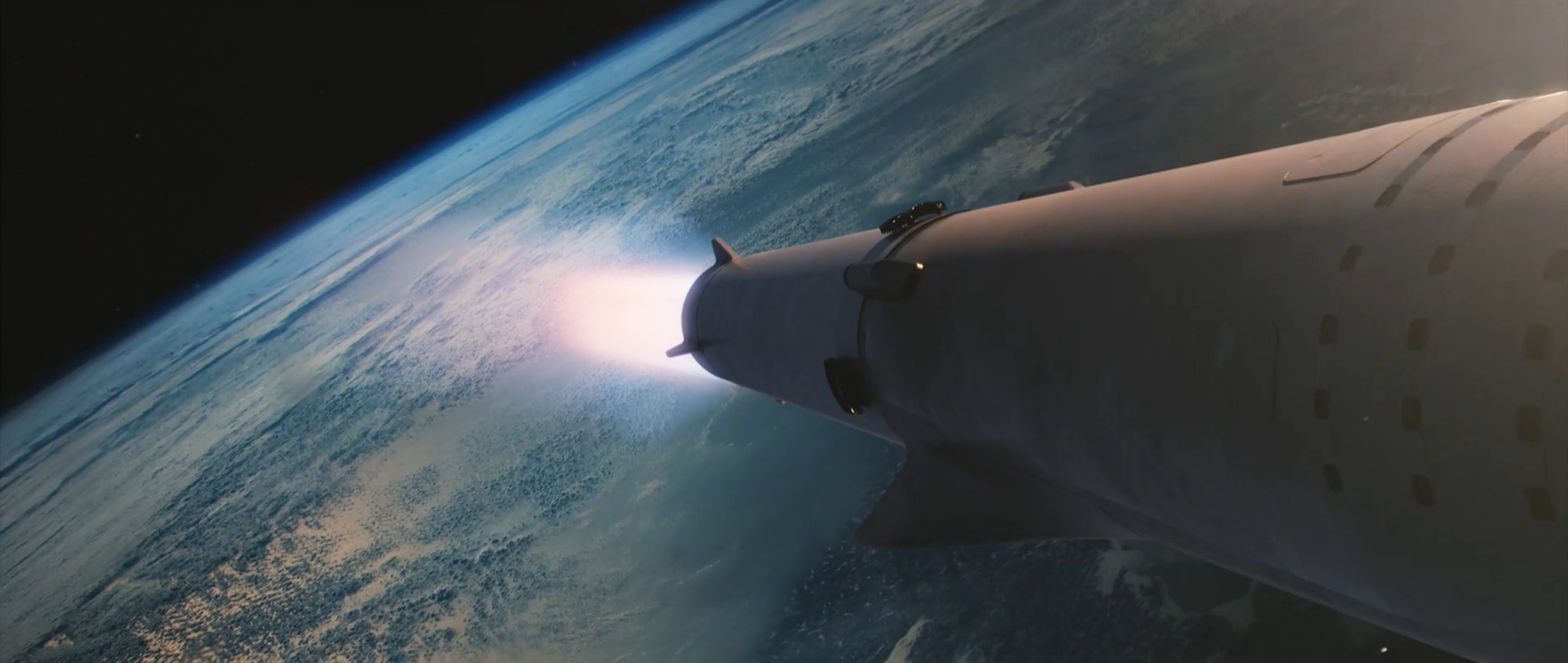 BFR heads to orbit (SpaceX)