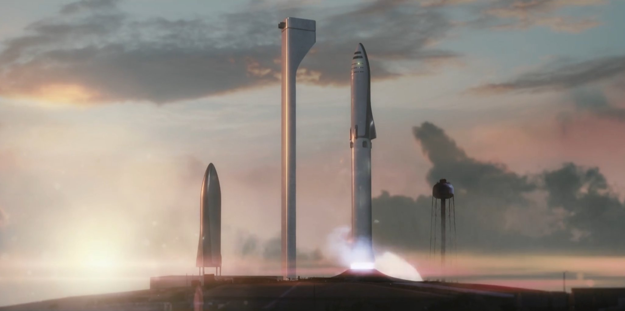 BFR liftoff 39A (SpaceX)
