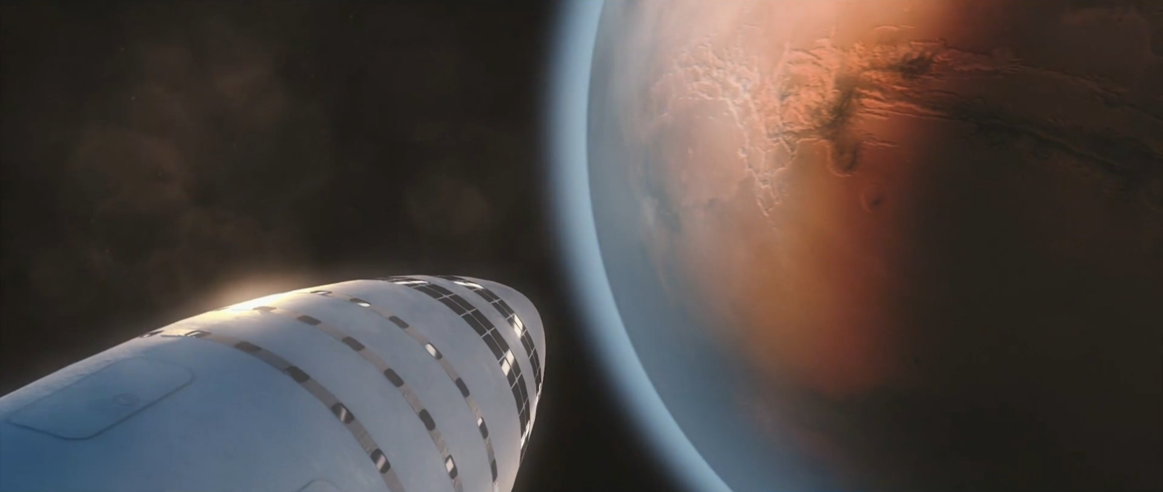 BFS arrives at Mars (SpaceX)